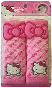 Hello Kitty sanrio Pink Car Seat Belt Cover (Pair) by H-M SHOP