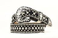 Nocona Women's Rhinestone Studded Suede Leather Western Belt