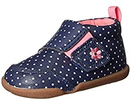 Carter\'s Every Step Christy P Walker Shoe (Infant/Toddler), Navy Dot, 3 M US Infant