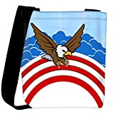 Snoogg bald eagle 4th of july vector theme design Womens Carry Around Cross Body Tote Handbag Sling Bags