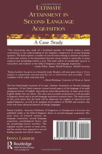 second language acquisition case study