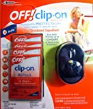 Off! Clip-on Mosquito Repellent with 4 Refills (Includes Batteries) Black 2013 Model