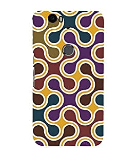 printtech Abstract Pattern Back Case Cover for Huawei Google Nexus 6P