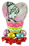 Disney Princess Easter Basket with Heart Shape Cinderella Candy Box and Chocolates