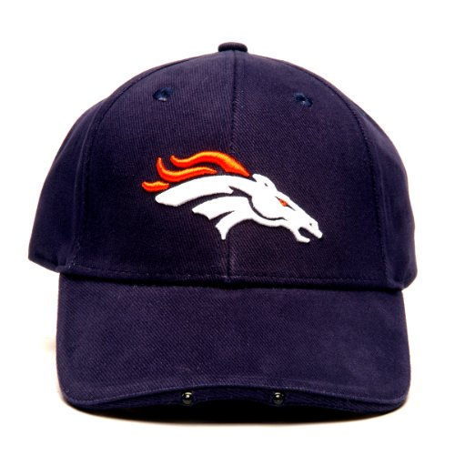 Nfl Denver Broncos Dual Led Headlight Adjustable Hat