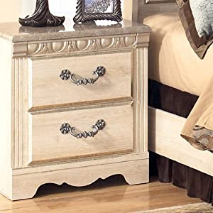 Traditional Classic Silverglade Nightstand in Opulent Color