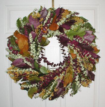 Margarita Fall And Spring Dried Flower Eucalyptus Decorative Wreath 24 inches (Spring Wreaths Outdoor compare prices)