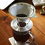 European Stainless Steel Single Cup Pour Over and Hand Drip Coffee Dripper / Filter with Stand   For Brewing Methods from STR Innovations Inc.