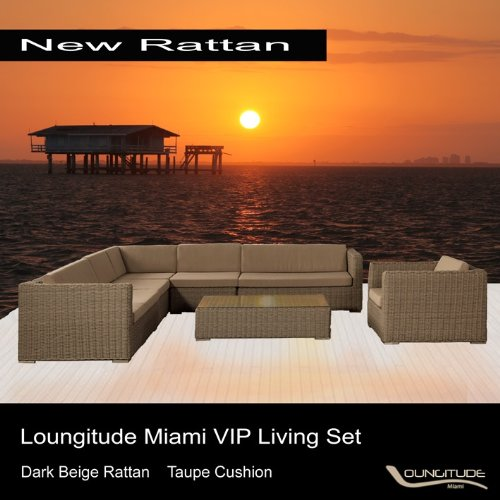 Outdoor Rattan Sofa Sectional Patio VIP Living Set Furniture 8 Pieces - 11 Seats