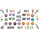 2015 Happy New Years Holiday Nail Art Waterslide Decals - Salon Quality!