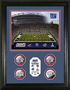 New York Giants - Super Bowl 46 XLVI - 4 Coins - Framed Photo Picture by Laminated Visuals