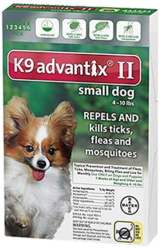 K9 Advantix II Small Dogs Up to 10 Pounds 6 Month Supply (Advantage Ii For Dogs Small compare prices)
