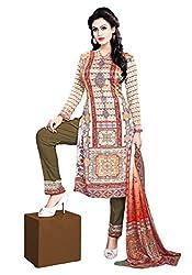 Justkartit Women's MultiColoured Digital Printed Resham Crepe Unstitched Party Wear Salwar Suit With Pant / Wedding Wear Salwar Kameez (Latest Salwar kameez Collection for Festive Wear)