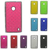 Hot Pink - Electroplating Stars Bling Hard Case Cover Skin For Nokia Lumia 520 Back Case(Package includes: 1 X Screen Protector and 1X Stylus Pen imagecatgift_store)