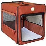 Go Pet Club AB18 18-Inch Soft Dog Crate, Brown