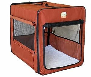 Go Pet Club Soft Dog Crate, 18-Inch, Brown