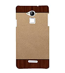 printtech Wooden Leather Pattern Back Case Cover for Coolpad Note 3 Lite