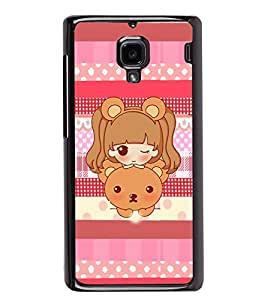 PRINTVISA A Baby With Teddy Premium Metallic Insert Back Case Cover for Xiaomi Redmi 1S - D5915