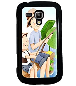 Printvisa Father Son Fishing Back Case Cover for Samsung Galaxy S Duos S7562