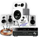 Creative Audio CA-HC31-BW Home Cinema System (Yamaha RX-V675 Black + Wharfedale DX-1 HCP Gloss White + Free £120 cable bundle + Free 11 page Creative Audio Quickstart Guide). 2 Year Guarantee + Free next working day delivery (most mainland UK addresses)!