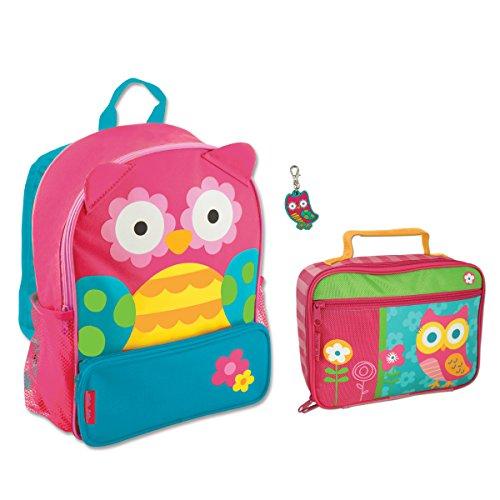 Stephen Joseph Sidekick Owl Backpack And Classic Owl Lunch Box (Teal) - Girls Backpacks front-980842