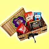 The Best Thank You Gift EVER! - Chocolate Hamper Box - Cadbury, Lindt, Roses, Celebration Chocolates - Great Thank you Gift Idea - Thank Teachers - By Moreton Gifts