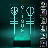 CMLART Twenty One Pilots Logo Art 3d Lamp Night Multi-color Change RGB Remote Control Best Gift Night Light LED Furnish Desk Table Lighting Home Decoration Toys