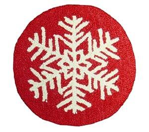 "Snowflake 15"" Round Chair Pad"