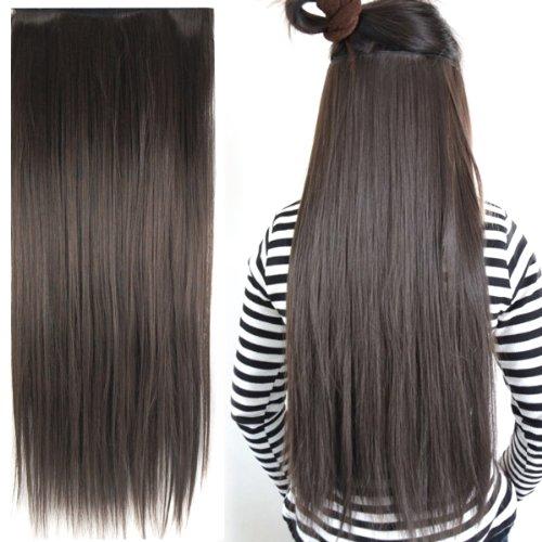 Dark Brown Hair Clip in Extensions
