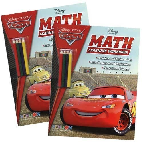 Disney Cars Math Learning Book with Pencils - 1