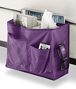 Amazon.com - Whitmor Savvy Purple Bedside Caddy - Bed Pockets