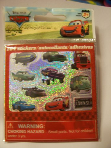 Disney Cars 104 Glittery Stickers ~ Lightyear Blimp Upper Left Hand Corner