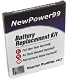 Battery Replacement Kit for Magellan RoadMate 1412 with Installation Video, Tools, and Extended Life Battery.