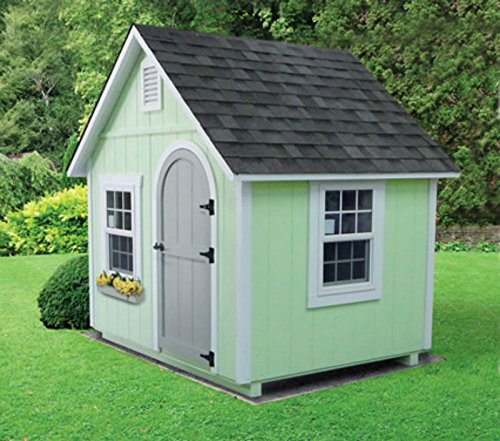 Extra Large Fully Finished 8' x 6' Kids Playhouse Cottage- Multiple Color Options- Amish Made