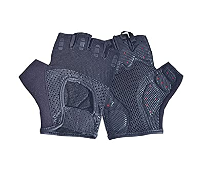 Weight Lifting Gloves Perforated Leather Fitness Strengthen Training Workout Gym Gloves Padded Palm Power Lifter Body Building from AllSorts