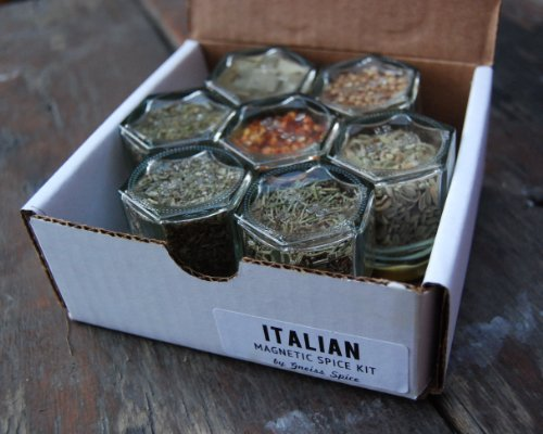 ITALIAN Spice Kit. Set of 7 Magnetic Spice Jars