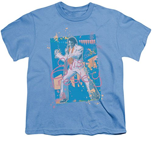 [Youth: Splatter Hawaii Elvis Presley T-Shirt] (Official Elvis Presley Microphone)