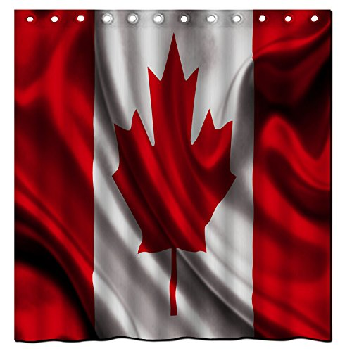 Galbreath case National flag of Canada 100% Polyester Fabric Shower Curtain Standard Size Custom 72x72inch/180x180cm (Canada Shower Curtain compare prices)