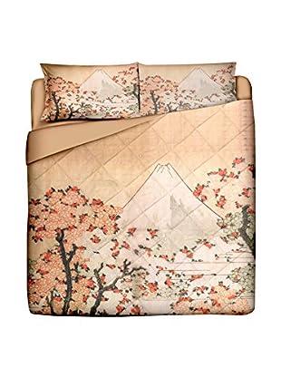 JAPAN MANIA by MANIFATTURE COTONIERE Edredón Fuji (Maquillaje/Multicolor)