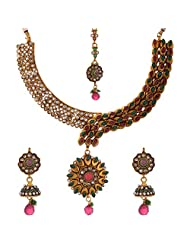 Dishi Imitation Antique Gold Plated Chain Necklace For Women - B00P16H6UA