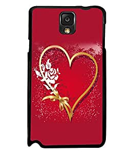 printtech Heart Ribbon Flower Love Back Case Cover for Samsung Galaxy Note 3 N9000::Samsung Galaxy Note 3 N9002::Samsung Galaxy Note 3 N9005 LTE
