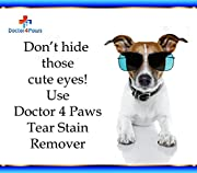 Premium Eye - Tear Stain Remover for Dogs - Naturally Derived From Coconut & Palm - Lifetime 'Happy Dog' Guarantee!