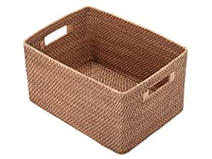 Amazon Com Kouboo Rattan Utility Basket Home Amp Kitchen