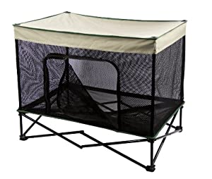 Quik Shade Outdoor Instant Pet Kennel Combo with Elevated Mesh Breathable Bed - Small