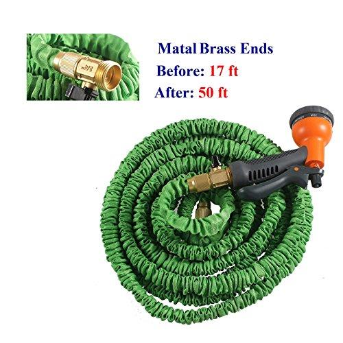 50FT-Expanding-Flexible-Garden-Water-Hose-Retractable-Quality-Brass-Ends