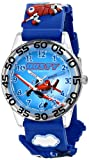 Disney Kids' W001526 Time Teacher Disney Planes Fire & Rescue Watch With Blue 3-D Plastic Band