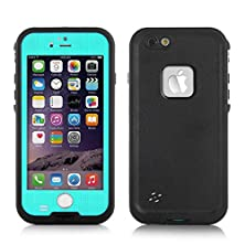 buy Newest Version Iphone 6 6S Plus Water-Resistance Case, Favolcano® 6.6Ft Underwater Waterproof Shockproof Dirtproof Snowproof Dustproof Sweatproof Protection Case Cover With Fingerprint Touch Id For Apple 5.5 Inch Iphone 6 6S Plus (Teal)