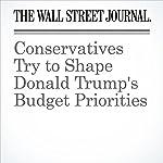 Conservatives Try to Shape Donald Trump's Budget Priorities   Nick Timiraos,Kristina Peterson,Richard Rubin