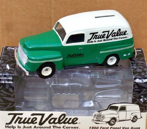 2004-ertl-true-value-1950-ford-panel-van-truck-125-by-ertl
