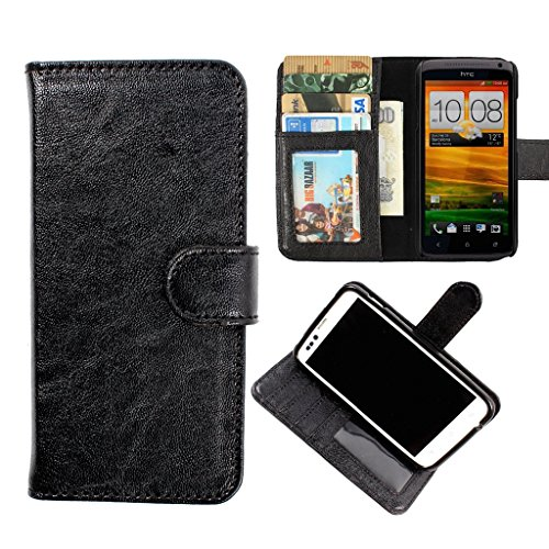 DooDa PU Leather Wallet Flip Case Cover With Card & ID Slots & Magnetic Closure For Lava Xolo Q800
